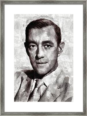 Alec Guinness Actor Framed Print by Mary Bassett