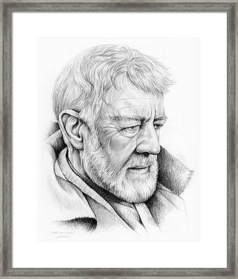 Alec Guinness Framed Print by Greg Joens