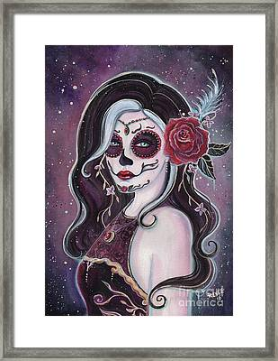 Alegria Day Of The Dead Framed Print by Renee Lavoie