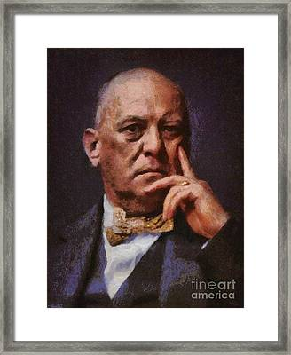 Aleister Crowley, Infamous Occultist Framed Print by Mary Bassett