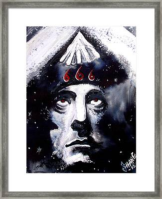 Aleister Crowley Space In Time With The Great Beast Framed Print by Sam Hane