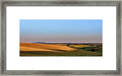 Framed Print featuring the photograph Alentejo Fields by Marion McCristall