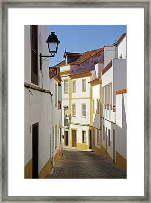 Alentejo Street Framed Print by Carlos Caetano
