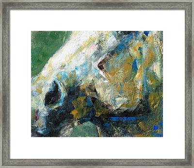 Alerted Framed Print by Frances Marino