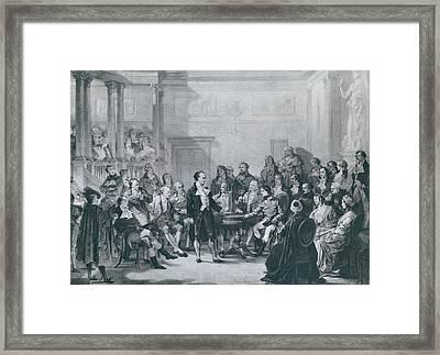 Alessandro Volta 1745-1827 Framed Print by Everett