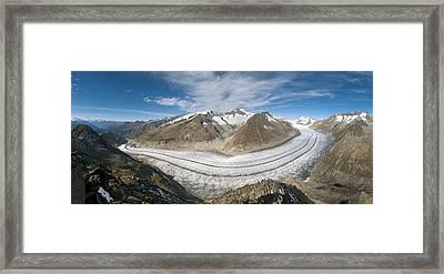 Aletsch Glacier, Switzerland Framed Print by Dr Juerg Alean