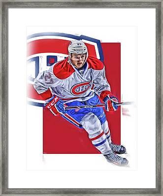 Alex Galchenyuk Montreal Canadiens Oil Art Framed Print by Joe Hamilton