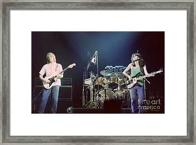 Alex Geddy And Neil Framed Print