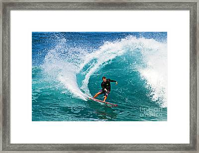 Alex Gray Carving Framed Print by Paul Topp