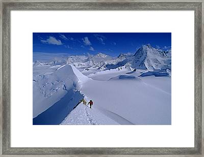 Alex Lowe On Mount Bearskin 2850 M Framed Print by Gordon Wiltsie