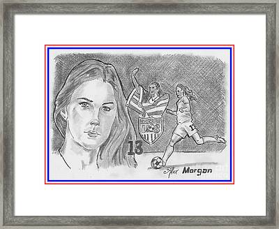 Alex Morgan Framed Print by Chris DelVecchio