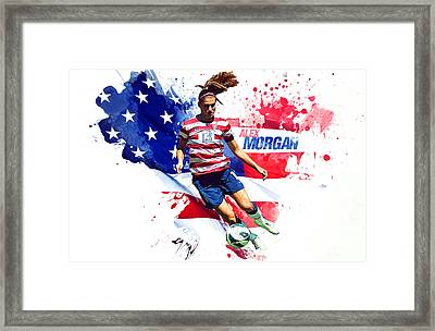 Alex Morgan Framed Print by Semih Yurdabak