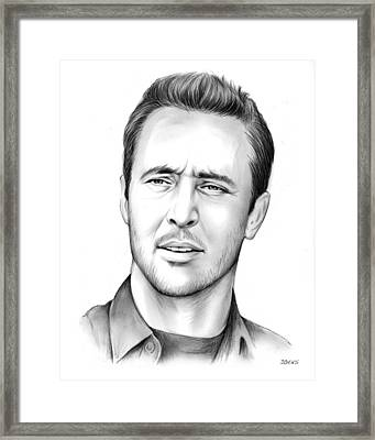 Alex O'loughlin Framed Print by Greg Joens