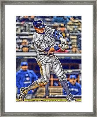 Alex Rodriguez New York Yankees Art 3 Framed Print by Joe Hamilton