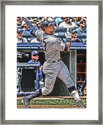 Alex Rodriguez New York Yankees Art 5 Framed Print