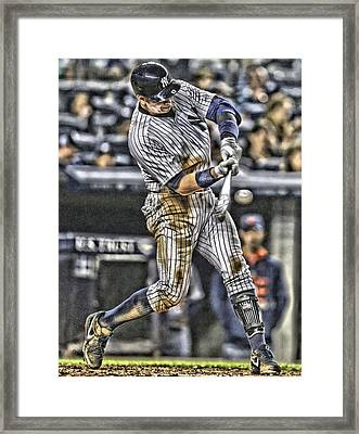 Alex Rodriguez New York Yankees Art1 Framed Print