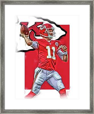 Alex Smith Kansas City Chiefs Oil Art Framed Print