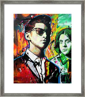 Framed Print featuring the painting Alex Turner by Richard Day