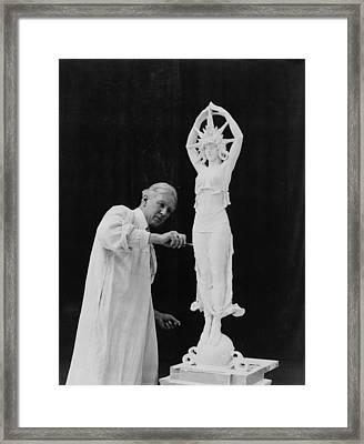Alexander Calder 1870-1945, Working Framed Print