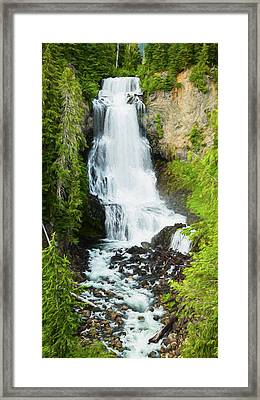 Framed Print featuring the photograph Alexander Falls - 2 by Stephen Stookey