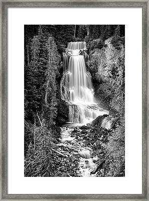 Framed Print featuring the photograph Alexander Falls - Bw 1 by Stephen Stookey