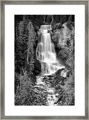 Alexander Falls - Bw 1 Framed Print