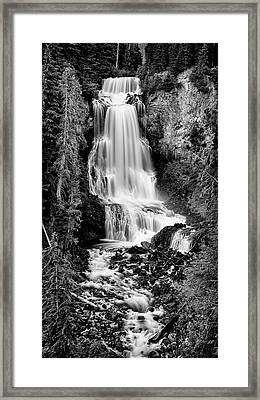Framed Print featuring the photograph Alexander Falls - Bw 2 by Stephen Stookey