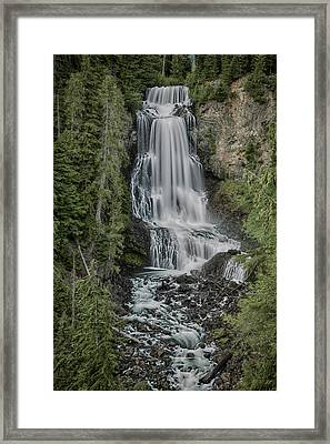 Framed Print featuring the photograph Alexander Falls by Stephen Stookey