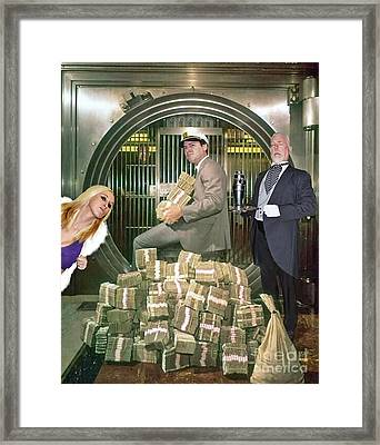 Alexander G. Bernard, His Money, Kimberly Diamond And Mr. Goldsworth  Framed Print by Jim Fitzpatrick