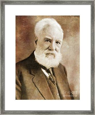 Alexander Graham Bell, Infamous Inventor By Mary Bassett Framed Print by Mary Bassett