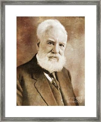 Alexander Graham Bell, Infamous Inventor By Mary Bassett Framed Print