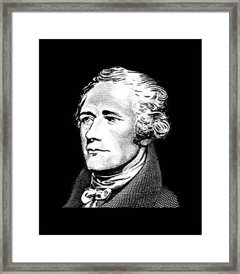 Alexander Hamilton - Founding Father Graphic  Framed Print