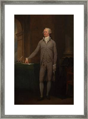 Alexander Hamilton Full-length Portrait Framed Print by War Is Hell Store