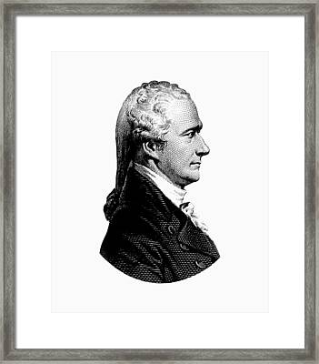 Alexander Hamilton Graphic Portrait  Framed Print by War Is Hell Store