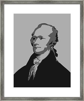 Alexander Hamilton Graphic Framed Print by War Is Hell Store