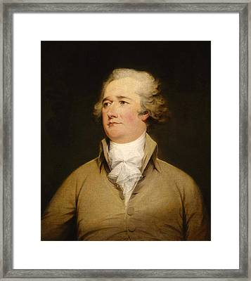 Alexander Hamilton Painting Framed Print by War Is Hell Store