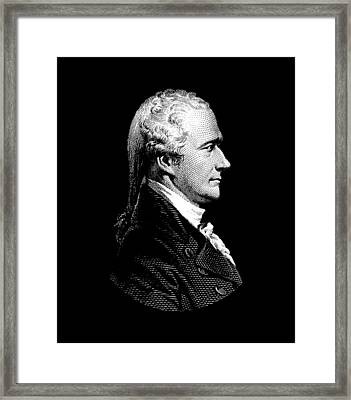 Alexander Hamilton Portrait Framed Print by War Is Hell Store