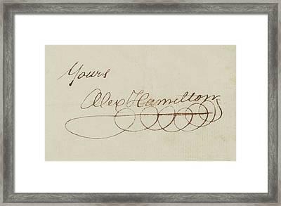 Alexander Hamilton Signature Framed Print