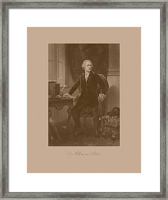 Alexander Hamilton Sitting At His Desk Framed Print