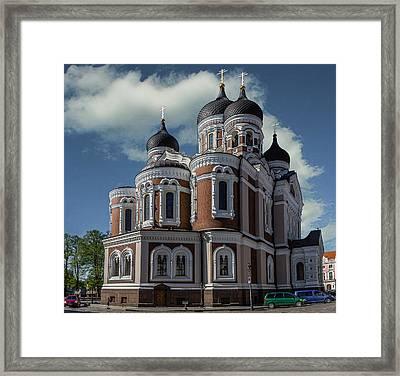 Alexander Nevsky Cathedral Framed Print by Capt Gerry Hare