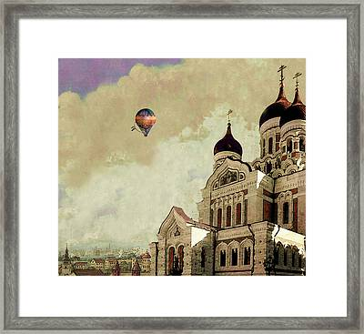 Alexander Nevsky Cathedral In Tallin, Estonia, My Memory. Framed Print by Jeff Burgess
