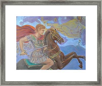 Alexander The Great Framed Print by Evangelos Koumbis