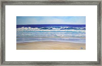 Framed Print featuring the painting Alexandra Bay Noosa Heads Queensland Australia by Chris Hobel