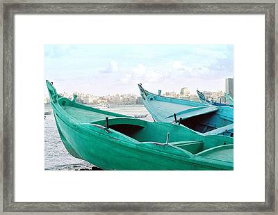 Alexandrian Boats Framed Print by Cassandra Buckley