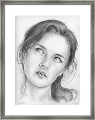 Alexis Bledel Framed Print by Greg Joens