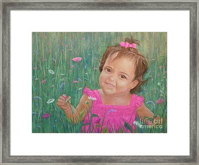 Alexis In Pink Framed Print