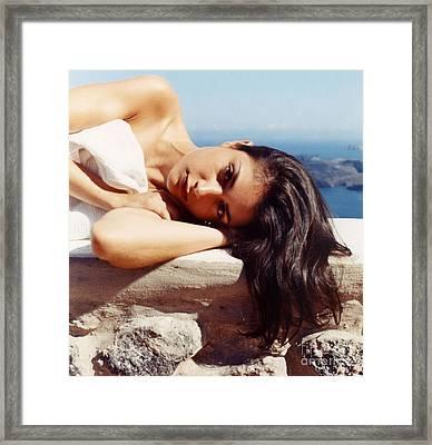Alexis In Santorini Iv Framed Print by Andrea Simon