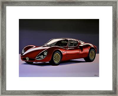 Alfa Romeo 33 Stradale 1967 Painting Framed Print by Paul Meijering