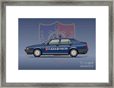 Alfa Romeo 75 Tipo 161, 162b Milano Carabinieri Italian Police Car Framed Print