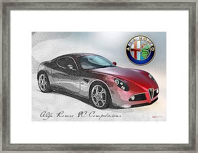 Alfa Romeo 8c Competizione  Framed Print by Serge Averbukh